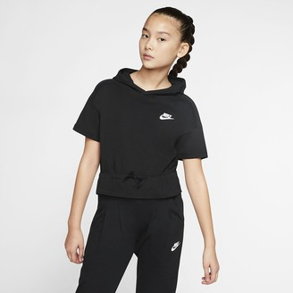 Nike Big Kids (Girls) Short-Sleeve Hooded Top Sportswear