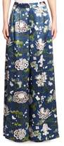 ADAM by Adam Lippes Pleated Floral Pants