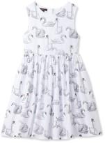 Stella Cove Toddler Girl's Swan Print Dress