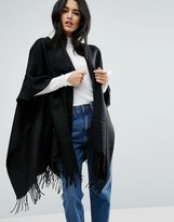 Pieces Cape Scarf in Black