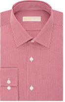 MICHAEL Michael Kors Men's Slim-Fit Non-Iron Red Micro-Check Dress Shirt