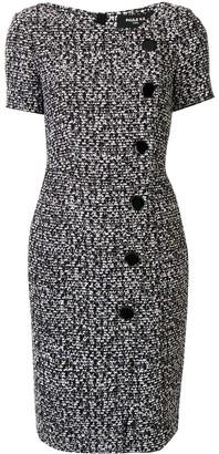 Paule Ka tweed short sleeve dress