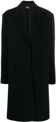 Karl Lagerfeld Paris x Carine single breasted coat