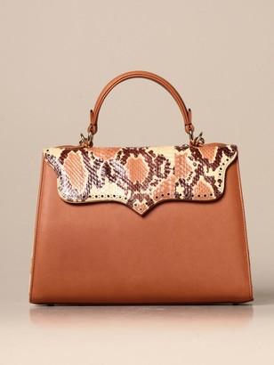 Tari' Rural Design Ab5 Tarigrave; Rural Design Bag In Leather With Python Flap