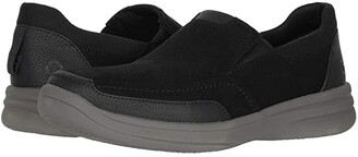 Clarks Step Stroll Edge (Black Leather) Men's Shoes