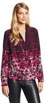 Tracy Reese Women's Warp Floral Surplice Silk Blouse