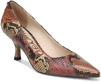 Sam Edelman Julianne Snake Embossed Pointed Toe Pump