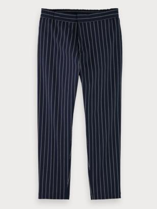 Scotch & Soda Mid-rise stretch cotton pinstripe suit pants | Men