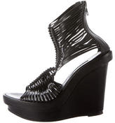 Ann Demeulemeester Leather Cage Sandals