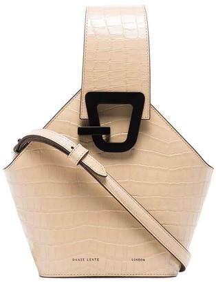 Danse Lente mini Johnny crocodile-effect bucket bag