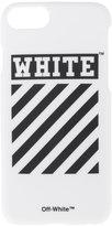 Off-White diagonal stripe print iPhone 7s case - unisex - PVC - One Size
