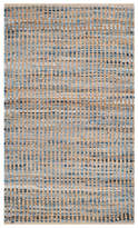 Safavieh Cape Cod Collection CAP352 Rug, Natural/Blue, 2'x3'
