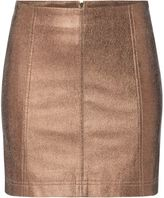 Free People New Modern Faux Leather Metalic Mini Skirt