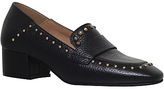 KG by Kurt Geiger Keekee Block Heeled Loafers, Black