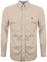 Ralph Lauren Long Sleeved Stretch Shirt Beige