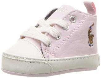 Polo Ralph Lauren Kids baby-girls' Hamptyn Hi Crib Shoe