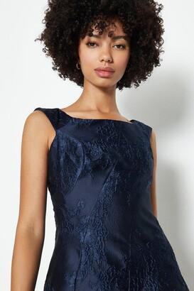 Coast Jacquard Twist Seam Dress