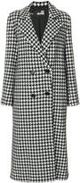 Love Moschino houndstooth double breasted coat