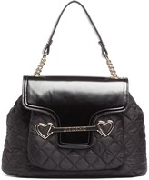 Love Moschino Quilted Nylon Flap Satchel