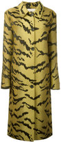 Christopher Kane tiger jacquard coat - women - Silk/Acetate/Wool - 40