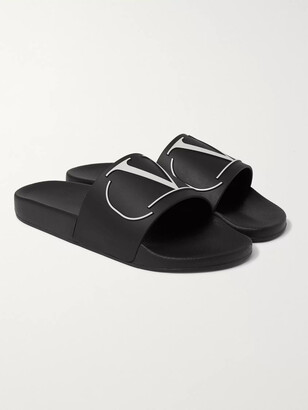 Valentino Logo-Embossed Rubber Slides