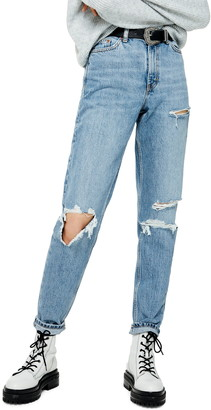 Topshop Tokyo Ripped Mom Jeans