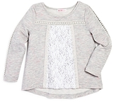 Design History Girls' Lace Panel Top - Little Kid
