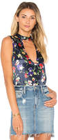 Tularosa Evie Sleeveless Blouse in Navy. - size L (also in M,S,XL,XS)