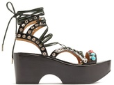Toga Polido lace-up wedge sandals