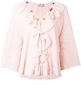 Paul & Joe ruffle trim blouse - women - Silk - 1