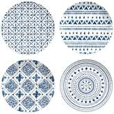 TarHong Indochine Assorted Ikat Salad Plates (Set of 4) (Set of 4)