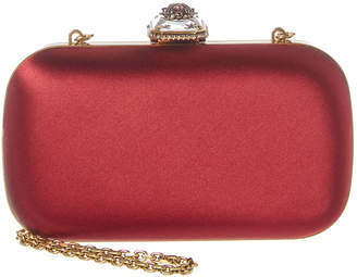 Alexander McQueen Beetle Box Satin Clutch