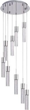 Orren Ellis Maday 9-Light LED Cluster Cylinder Pendant