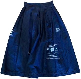 DEPARTMENT 5 \N Blue Denim - Jeans Skirts
