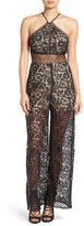 KENDALL + KYLIE Kendall & Kylie Cutout Back Lace Jumpsuit