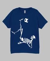 Micro Me Navy Soccer Skeleton Tee - Infant Toddler & Boys
