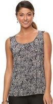 Dana Buchman Women's Shirred Scoopneck Tank