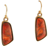 Barse Women's Bronze/Orange Sponge Coral Earring LSTRE02OSCB