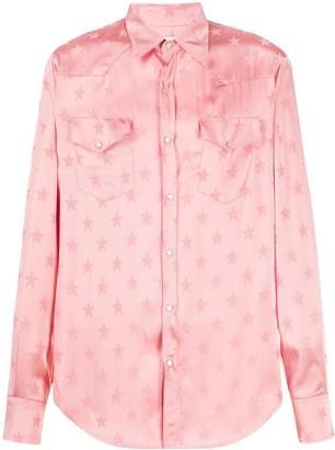 Laneus Star Print Shirt