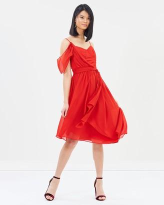 Oasis Asymmetric Midi Dress
