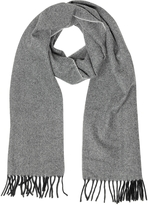 Lanvin Two Tone Pure Cashmere Men's Scarf w/Fringes