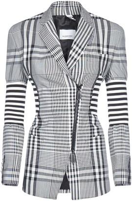 Burberry Check Print Tailored Blazer