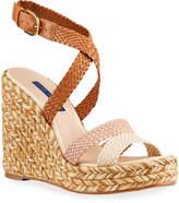 Stuart Weitzman Elsie Tricolor Espadrille Wedge Sandals