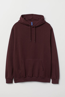 H&M Relaxed Fit Hoodie - Red