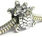 Queenberry Sterling Silver Sea Turtle Nautical Animal Bead For European Chamilia Biagi Troll Pandora Charm Bracelets