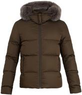 Fendi Reversible fur-trimmed quilted-down coat