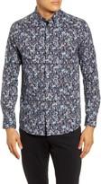 Ted Baker Toobig Slim Fit Floral Button-Up Shirt