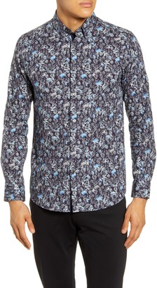 Ted Baker Toobig Slim Fit Floral Button-Up Shirt