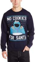 Sesame Street Men's No Cookies for Santa Ugly Christmas Sweatshirt