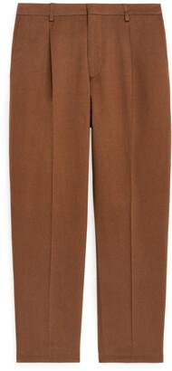 Arket Regular Cotton-Linen Trousers